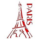 Paris Schablone–wiederverwendbar Eiffelturm French Thema Skyline Wand Schablone–Vorlage, auf Papier Projekte Scrapbook Tagebuch Wände Böden Stoff Möbel Glas Holz etc. L