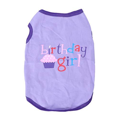 LANDUM Pet Weste Sommer Birthday Girl Boy Kleinen Hund Katze Puppy Weiches Shirt Kostüm, mädchen, S (Mädchen Kostüme Puppy Für)