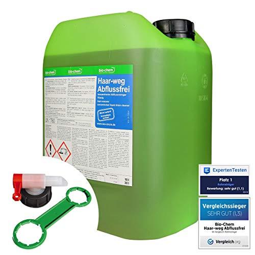 bio-chem HAAR-WEG Abfluss-Frei 10 LITER Abflussreiniger Rohrreiniger Rohrfrei