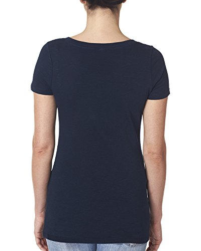 Next Level Damen T-Shirt Blau - Midnight Navy (Marineblau)