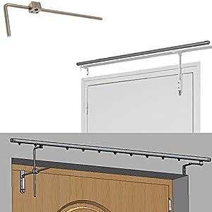 tringle de porte pivotante habillage porte rideau long. Black Bedroom Furniture Sets. Home Design Ideas