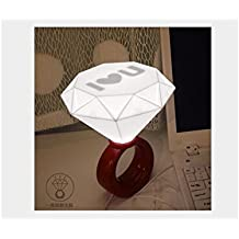 TjcmSs Creativo I Love U Diamond Ring LED Lámpara Night Light USB para Regalo de Amante