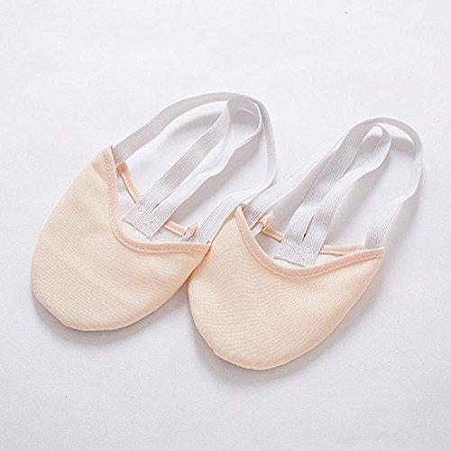 Erwachsene Bauch Ballett Tanzschuhe Fitness Praxis Weiche Halbsohlen Schützen Füße Elastizität Zehe Pad / Pack Von 3 / . Light Gold . (Kostüm Size Bauchtänzerin Plus)