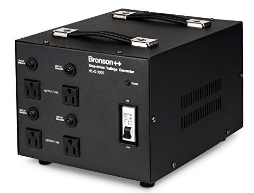 Bronson++ HE-D 3000-110 Volt Spannungswandler Transformator - 3000 Watt - In: Euro 220V-240V / Out: USA 110V - 3000W - Bronson - Nema Netzteil