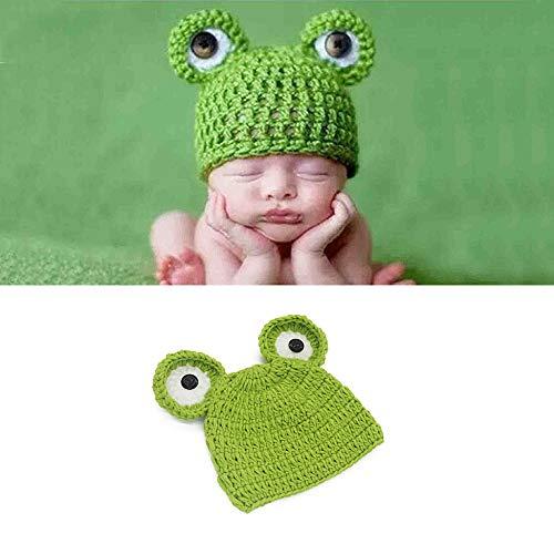 Kostüm Frosch Augen - NROCF Frosch Neugeborenes Baby Mädchen Junge Häkelarbeit Kostüm Foto Fotografie Prop, Große Augen Hüte Outfits (Frosch Hut)