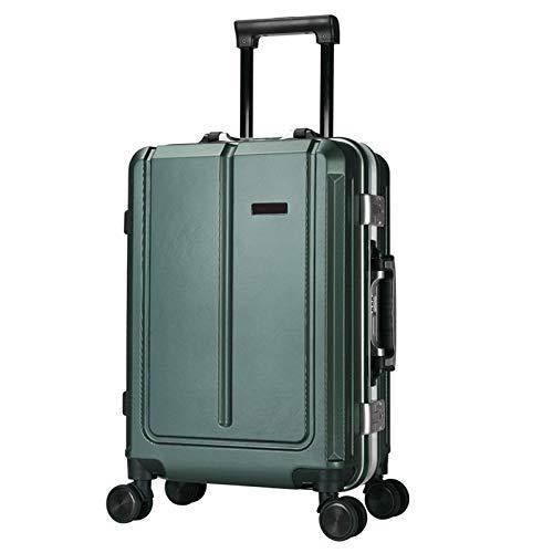XIEPEI Mehrzweck-Gepäckbox PC Aluminiumrahmen Business-Passwort-Box Universal-Rad Trolley Grün 71cm -