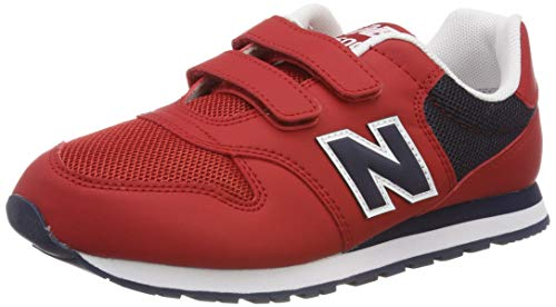New balance 500 sneaker unisex-bambini, rosso (red/pigment rd) 26 eu