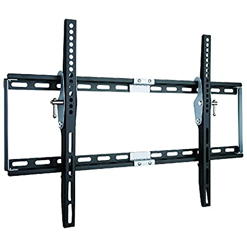Duronic TVB777 Heavy Duty Adjustable Black Wall Bracket For Plasma, LCD, LED Screens For 33