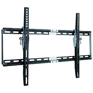 "Duronic 33"" - 60"" TV Bracket TVB777 Heavy Duty Adjustable Black Wall Bracket For LCD|Plasma|LED|3D|4K |OLED |QLED For Wide Screens With Tilt down. VESA 200 X 200, 400 X 400, 600 X 400"