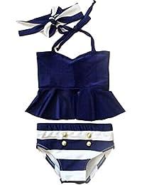Enfants Bébé Tankini Maillot de Bain Bikini Ensemble Maillot de Bain 2pcs Filles Beachwear