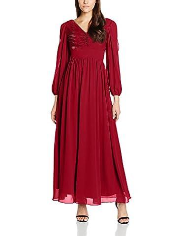 My Evening Dress Damen Scarlett Party - und Abendkleider,,per pack Red (Burgundy E),44 (Manufacturer Size:44)