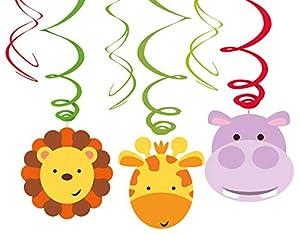 Amscan International-9901924decoraciones de remolino de diseño de animales de la selva