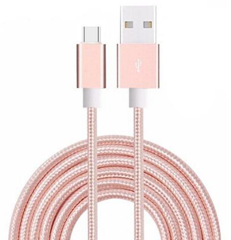 Aventus (Rose Gold) Micro USB Cavo di Nylon Intrecciato per