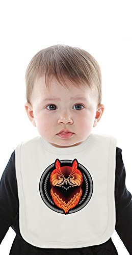 Graphic Owl Organic Bib With Ties Medium