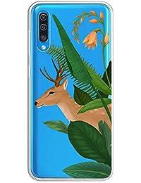 Oihxse Transparente Silicona Case Compatible con Samsung Galaxy Note 3 Funda Suave TPU Protección Carcasa Moda Dibujos Animados Divertida Diseño Ultra-Delgado Cubierta-Ciervo