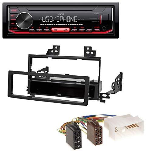 caraudio24 JVC KD-X252 1DIN AUX USB MP3 Autoradio für Kia Rio Hyundai Accent (2006-2011) Rio Mp3