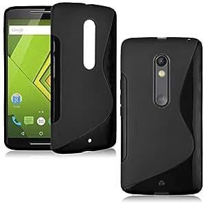 Motorola Moto X Play Magic Brand S-Line Black Soft Silicon Back Cover Case