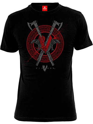 Vikings Axe & Raven T-Shirt nero S