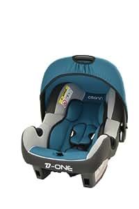 Osann Babyschale Babytrage Kinderautositz BeONE SP Agora Petrol türkis blau grün, 0 bis 13 kg, ECE Gruppe 0 +, von Geburt bis ca. 15 Monate, mit Verdeck