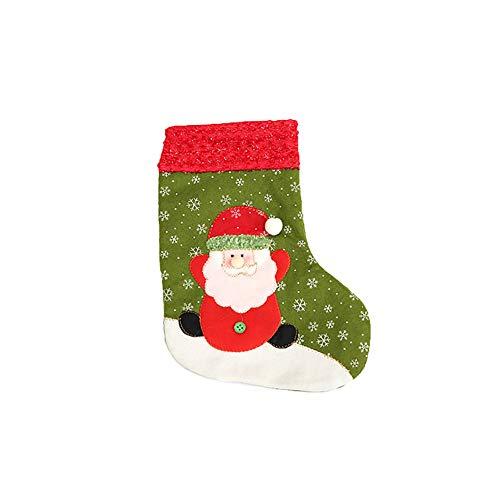 Hearsbeauty merry christmas santa claus snowman xmas stocking gift candy calzino ornamento decorazione, santa claus*