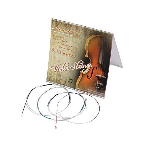 Deutscher Pirastro Tonica Violinsaiten Satz Kugelkopf AEGD Satz Violinosaiten Für 4/4-1/8 Violine - Silber (4 4 Tonica Violin-saiten)