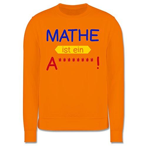 Sprüche - Mathe ist ein A - Herren Premium Pullover Orange