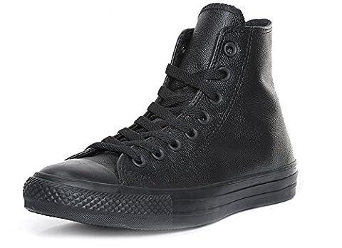 Converse Chuck Taylor All Star Mono Leather Hi, Sneaker Unisex–Adult black Size: 8.5 UK