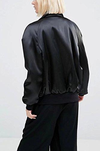 Les Femmes Élégantes Se Fermer Dépaisseur Hiver Matelassé Col Plein Les Poches De Manteau Avec Un Insigne Une Veste Daviateur Black
