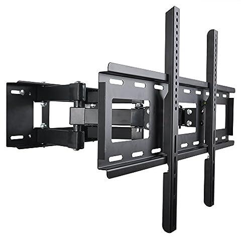 BPS Tilt&Swivel TV Wall Mount bracket with Dual Articulating Arm