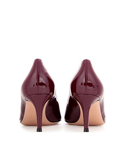 EDEFS - Escarpins Femme - 6 cm Kitten-Heel Chaussures - Bout Pointu Fermé - Classique Bureau Soiree Shoes Corail