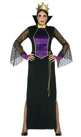 Guirca Rudy Disfraz grimilde Reina Bruja Biancaneve, Color Negro, Morado, Talla...