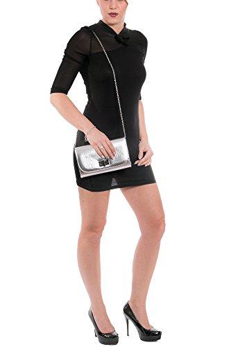 Gadzo® Clutch Handtasche Umschlag elegant Umhängetasche Look CLUN02 Rot