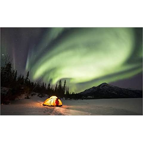 Impresión en madera 80 x 50 cm: Aurora Borealis in Alaska de Chris Madeley / Science Photo Library