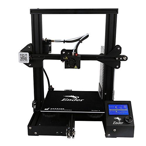 Imprimante 3D Creality3D Ender-3 DIY Imprimante LCD Ecran Impression 3D Printer Auto-Assemblage de Haute Précision 220 x 220 x 250mm Max. 180mm/s