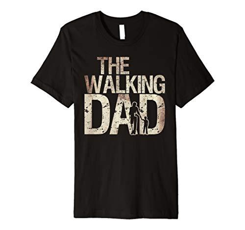(Walking Dad Shirt Zombie Man und Kid Vater 's Day Tee)