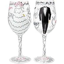 Lolita - Juego de 2 copas de vino bride and groom