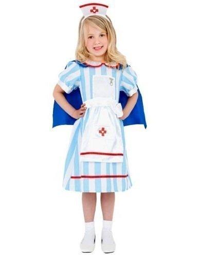 Jungen Mädchen Kinder Chirurg Arzt Pflegepersonal ER Uniform Fancy-dress Kostüm Verkleiden Outfit 4-12 jahre - Mädchen, 4-6 Jahre