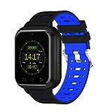 YSCYLY Fitness-Trackers Smart Watch WiFi Multifunktions wasserdicht IP67 4G 1 GB / 8 GB Telefon Unterstützung Herzfrequenz SIM Karte für Android 6.0, blau