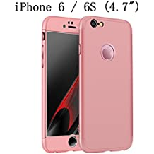 """iPhone 6s Case, iPhone 6 4.7"""" Case, Heyqie 360 Degree Full Protection 3 in 1 Ultra Slim Anti-Scratch Shockproof Smoothly Protective Hard PC Cover Case For Apple iPhone 6 6s 4.7"""", Rose Gold"""