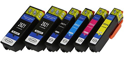 6 XL Druckerpatronen mit Chip und Füllstandanzeige für Epson Expression Premium XP-510, XP-520, XP-600, XP-605, XP-610, XP-615, XP-620, XP-625, XP-700, XP-710, XP-720, XP-800, XP-810, XP-820