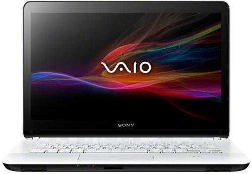 Sony VAIO SVF1421E2EW 35,5 cm (14 Zoll Touch) Laptop (Intel Pentium 987, 1.5GHz, 4GB RAM, 500GB HDD, Intel HD, DVD, Win 8) weiß - Laptop Vaio Sony Weiß
