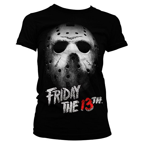 Jason T-shirt Tee (Officially Licensed Merchandise Friday The 13th Girly Tee (Black), XX-Large)