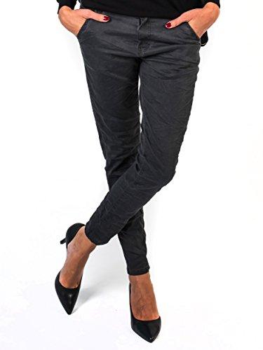 BIANCO JEANS Damen Hose Alison - Relaxed geschnittene Jeans in extravaganten Waschungen - Charcoal - 38 (Distressed Jeans Lücke)