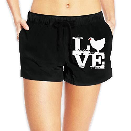 Hwgss Love Chicken Women's Beach Board Shorts Lightweight Bathing Suit(XL) - Oakley Lightweight Shorts