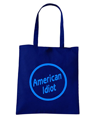 T-Shirtshock - Borsa Shopping FUN0308 15l americal idiot decal 24630 Blu Navy