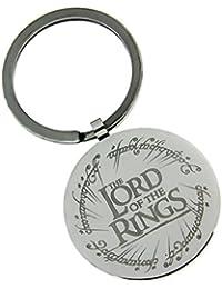El Señor de los anillos de la cadena clave el logo de una anillo de acero inoxidable pulido Ø3cm