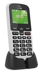 Doro PhoneEasy 508 GSM Mobiltelefon mit großem Farbdisplay (inkl. Ladeschale) weiß