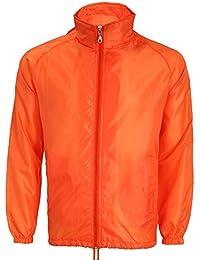 f719d49f49a889 BOZEVON Winddicht & Wasserdicht Regenjacke Regenmantel Outwear Jacke mit  Kapuze Windbreaker Für Damen Herren Erwachsene