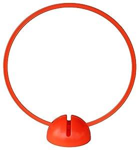 agility sport pour chiens - socle multi-fonctions remplissable avec cerceau Ø 70 cm, couleur: orange - 1x xsR70o
