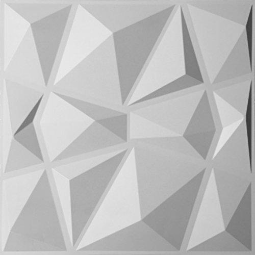 Wanddeko Tafel Prizma Mit 3d Prismenmuster Weiß
